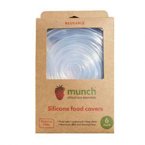 Silicone food cover 6 pk by Munch Cupboard